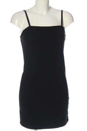 Miss Selfridge Mini Dress black cable stitch simple style