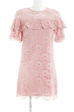 Miss Selfridge Spitzenkleid rosa florales Muster Elegant