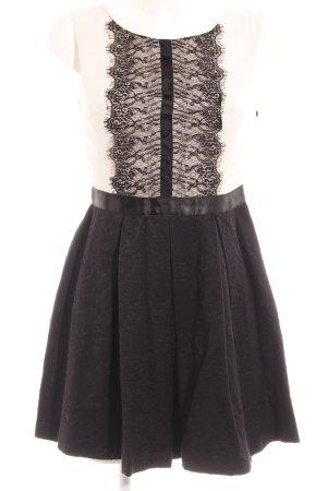 Miss Selfridge Koronkowa sukienka czarny-w kolorze białej wełny