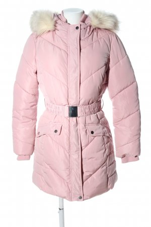 Miss Selfridge Quilted Coat pink quilting pattern casual look