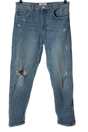 Miss Selfridge Jeansy z prostymi nogawkami niebieski W stylu casual