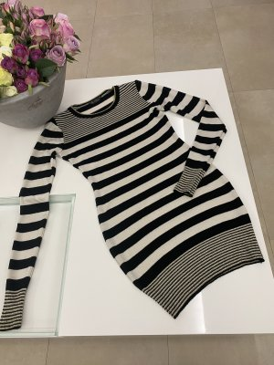 Miss Selfridge Strickkleid Kleid in 36 / S weiß schwarz Gold