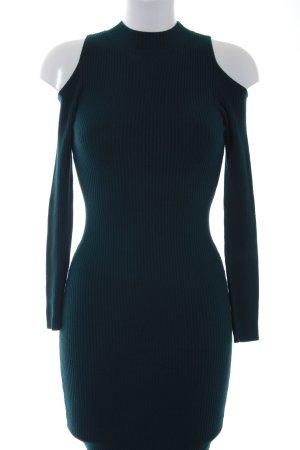 Miss Selfridge Sukienka z dzianiny petrol W stylu casual