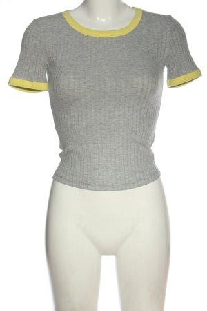 Miss Selfridge Koszulka z dzianiny jasnoszary-bladożółty W stylu casual