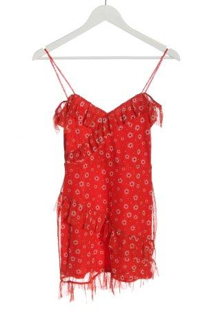 Miss Selfridge Pinafore dress red allover print elegant
