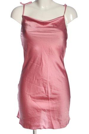 Miss Selfridge Vestido tipo overol rosa look efecto mojado