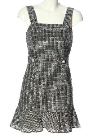 Miss Selfridge Pinafore dress black-white weave pattern casual look