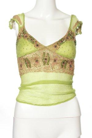 Miss Selfridge Trägertop grün-pink Elegant