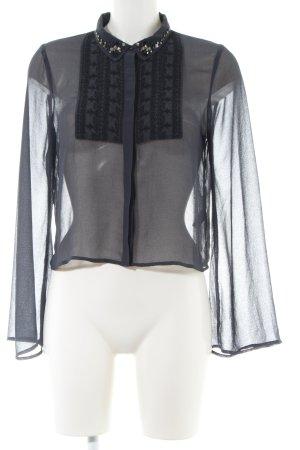 Miss Selfridge Transparenz-Bluse schwarz Casual-Look