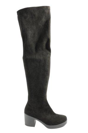 Miss Selfridge Wysokie kozaki czarny W stylu casual