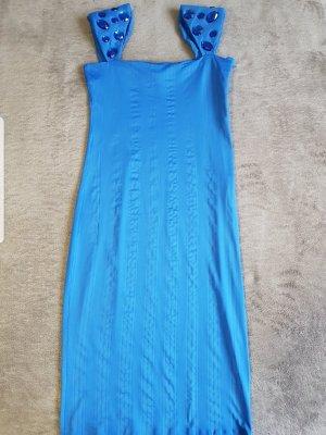 Miss Sixty Suknia wieczorowa niebieski neonowy