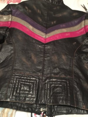 MISS SIXTY  100% Leder / Leather Distressed Moto jacket  sz S
