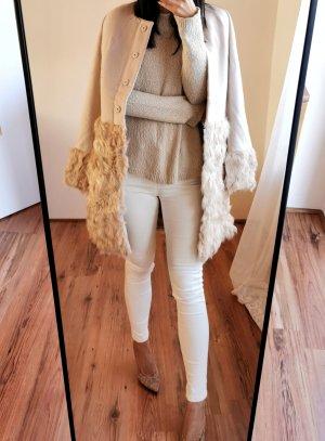 Miss Sixty 100% Wolle Mantel hochwertig Echtpelz echtfell