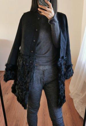 Miss Sixty 100% Woolle Mantel Echtfell Echtpelz