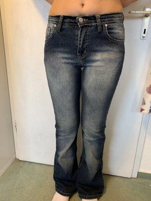 Miss Sixty Jeans taille basse bleu-bleu fluo