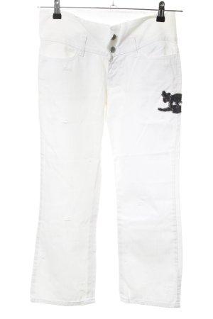 Miss Sixty 3/4 Jeans weiß Schriftzug gedruckt Casual-Look