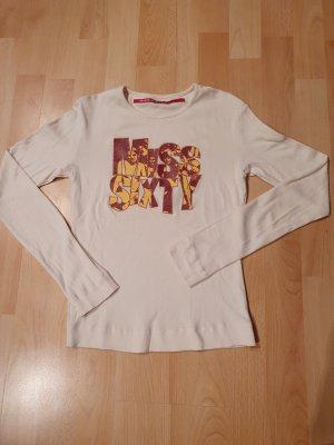 Miss Sixty Koszulka z nadrukiem w kolorze białej wełny-bordo