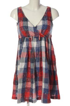 Miss Sixty Vestido línea A azul-rojo look casual