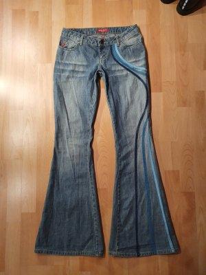Miss Sixty Jeans a zampa d'elefante multicolore
