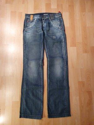 Miss Sixty Jeans boyfriend blu acciaio-blu fiordaliso