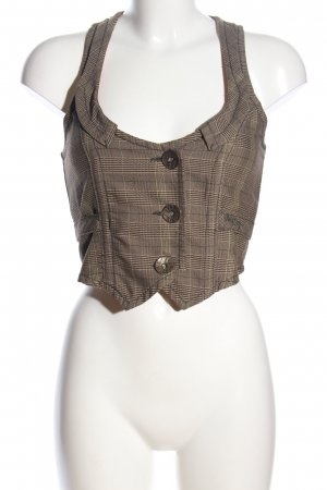 Miss Sixty Waistcoat brown allover print business style