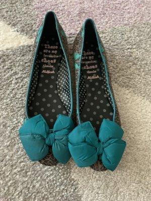 Miss Sixty Ballerina's met kant grijs-cadet blauw