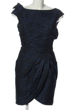 Miss Sixty Falda estilo lápiz azul-negro estampado con diseño abstracto
