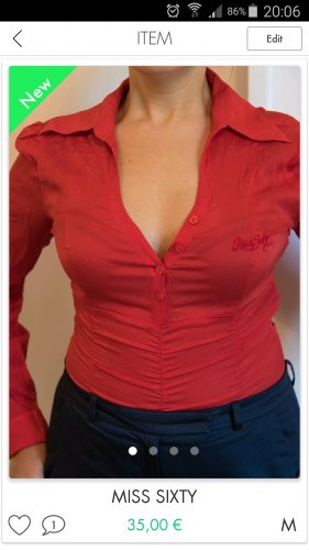 Miss Sixty Camicetta body rosso