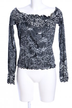 Miss Sixty Carmen-Bluse Allover-Druck Casual-Look
