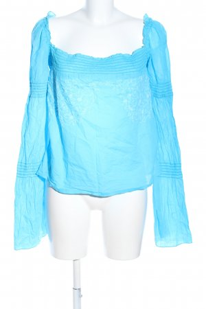 Miss Sixty Blusa tipo Carmen azul look casual