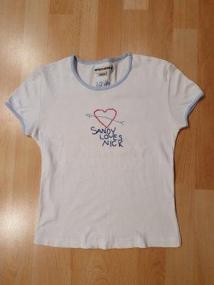 Miss Sixty Camiseta blanco-azul celeste