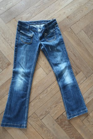 Miss Sixty Boot Cut Jeans dark blue cotton