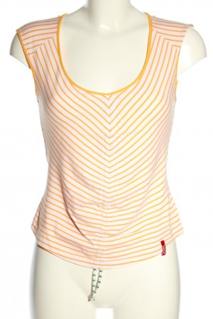 Miss Sixty Cropped Top weiß-hellorange Allover-Druck Casual-Look