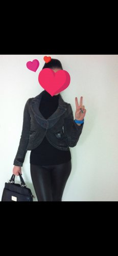 Miss Sixty Damen Jeans Jacke, Schwarz/Blau, Gr. S