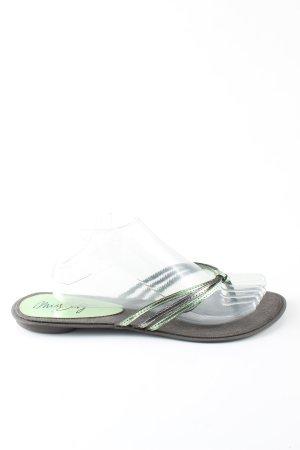 Miss Sixty Flip Flop Sandalen khaki-hellgrau Casual-Look