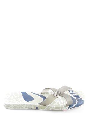 Miss Sixty Flip Flop Sandalen abstraktes Muster Casual-Look