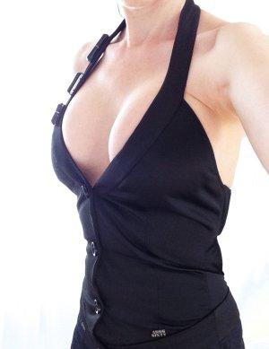 MISS SIXTY Gothic Satin Weste Top Jacket schwarz – XS