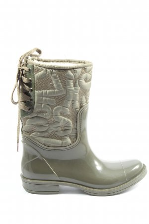 Miss Sixty Wellies khaki casual look