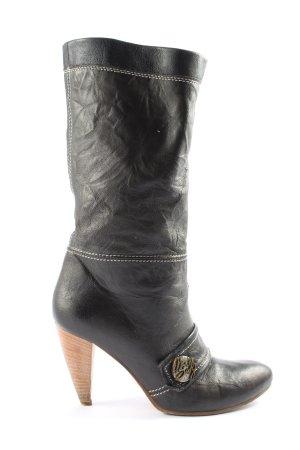 Miss Sixty Botki czarny-brązowy W stylu casual