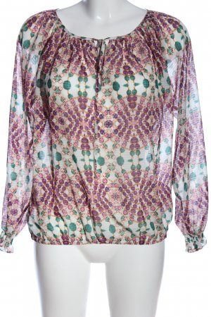 Miss Sixty Hemd-Bluse abstraktes Muster Elegant