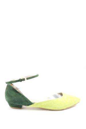 Miss Sixty Strappy Ballerinas green-primrose casual look