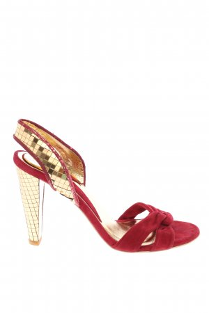 Miss Sixty High Heel Sandaletten goldfarben-rot Elegant