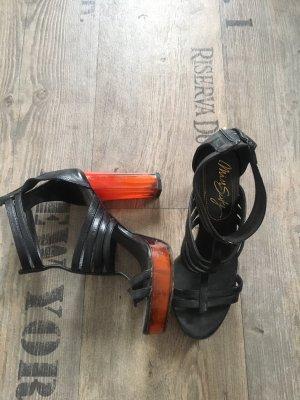 Miss Sixty Hoge hakken sandalen zwart-neonoranje
