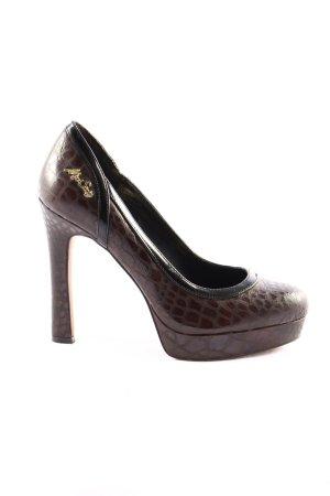 Miss Sixty High Heels braun Animalmuster Casual-Look