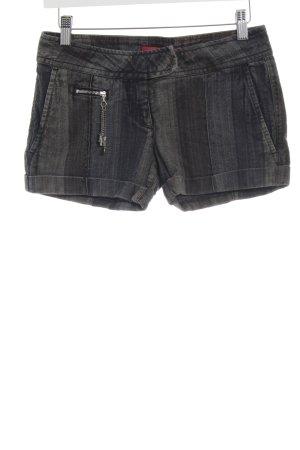 Miss Sixty Hot Pants hellgrau-schwarz Streifenmuster Casual-Look