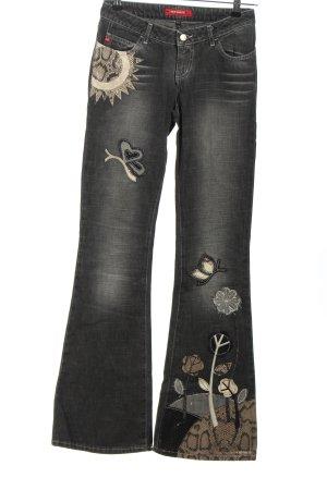 Miss Sixty Boot Cut Jeans hellgrau Casual-Look