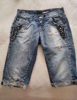 Miss Sixty Jeans a zampa d'elefante grigio ardesia-blu