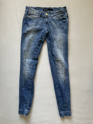 Miss Sixty Jeans taille basse gris ardoise-bleu acier