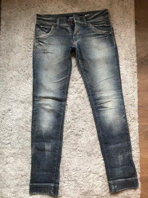 Miss Sixty Jeansy z prostymi nogawkami szary niebieski