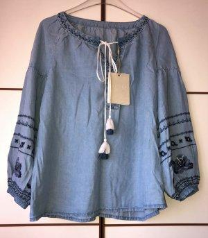 Miss Sixty Jeans Denim Bluse Tunika Hippie S 36-38 Neu m. Etikett